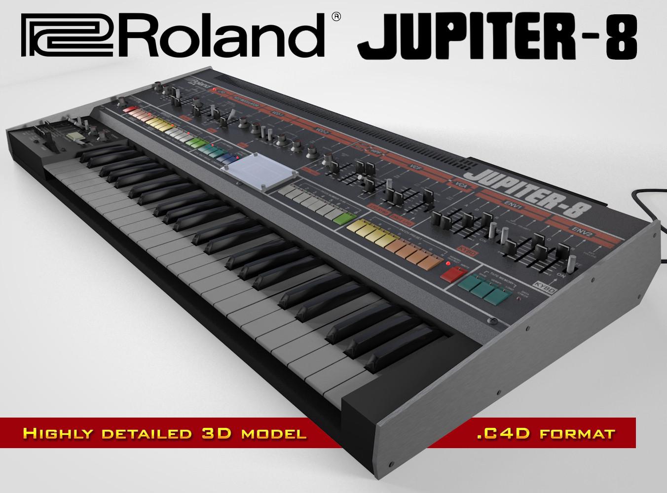 roland jupiter-8 c4d
