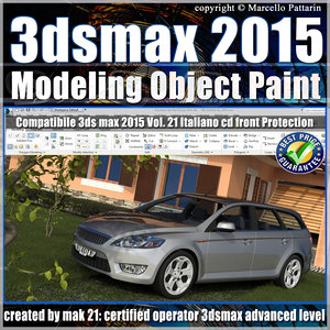 3ds max 2015 Object vol 21 Paint cd front