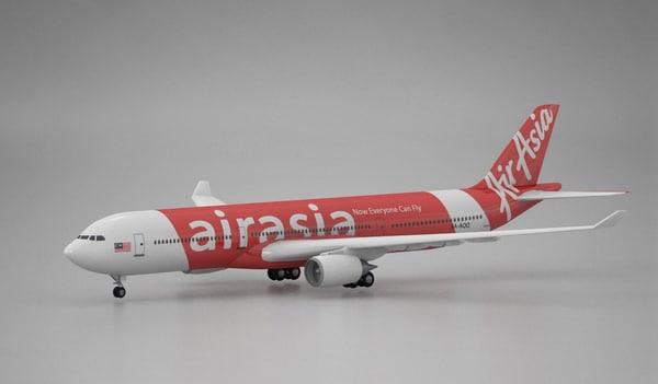 3d model airplane airbus a330 airasia