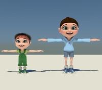 3dsmax girls cartoon