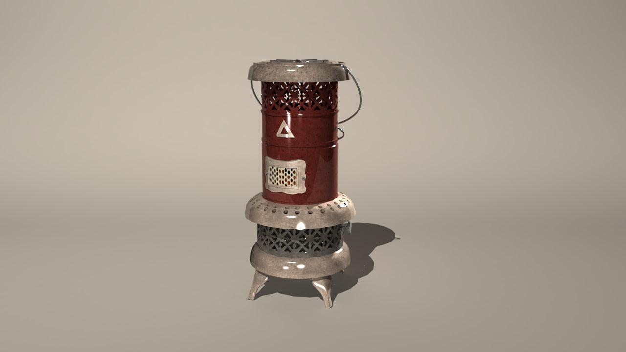 vintage heater 3d obj