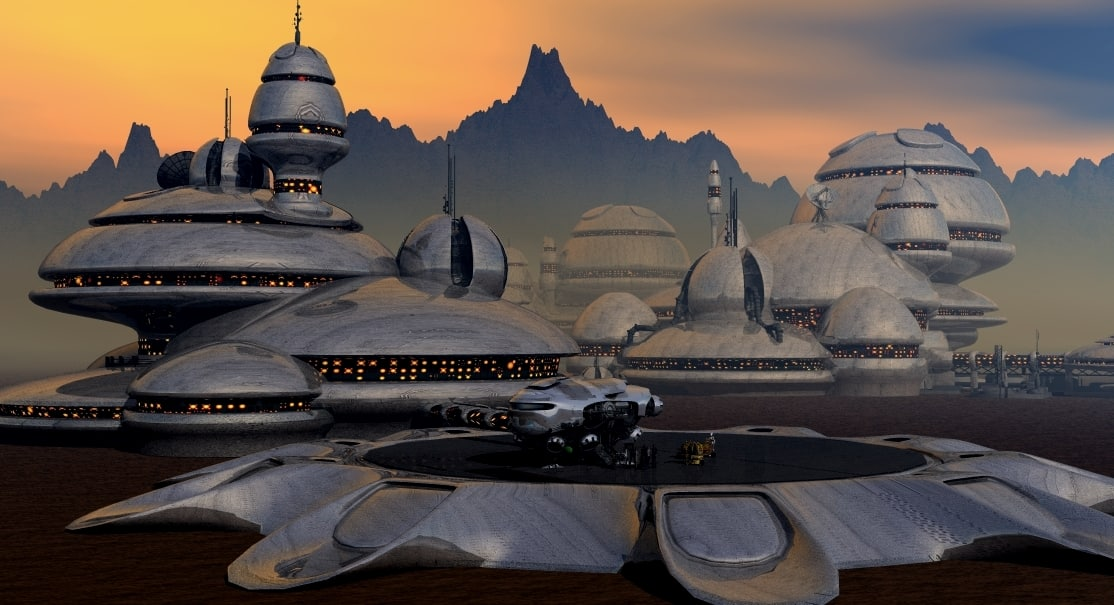 landing station 3d obj