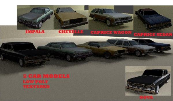 5 car 3d model