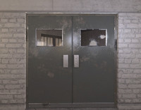 industrial doubleside metal door