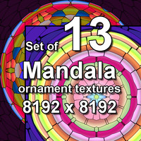 Mandala Ornament 13x Textures, set #1
