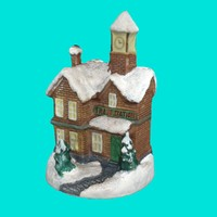 3d model christmas train station