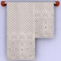 bath towels 3d model
