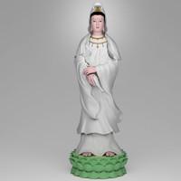 3d model of bodhisattva god goddess
