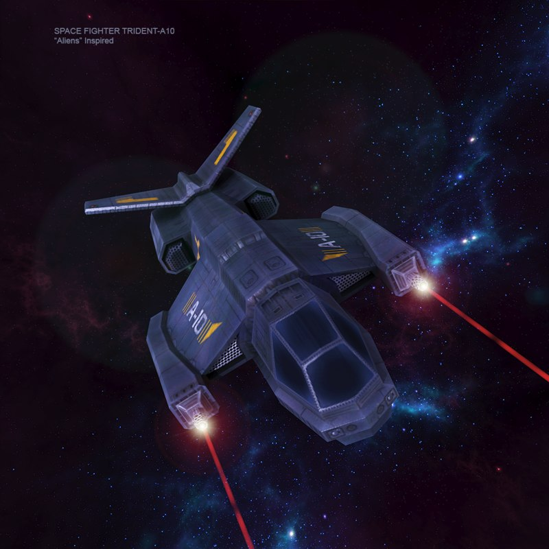 free max model space fighter trident-a10