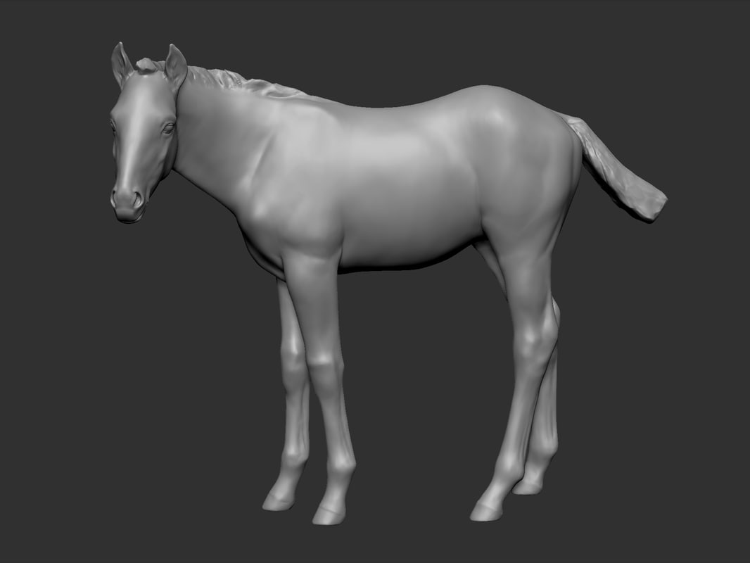horse foal pose 3ds