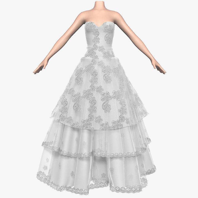 3d wedding dress 009 1