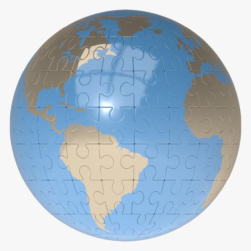 puzzle earth globe max