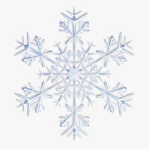 3d snow snowflake model