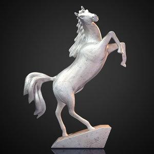 3d horse statue