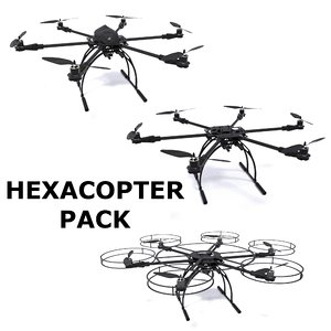 3d model hexacopter pack