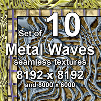 Metal Waves 10x Seamless Textures
