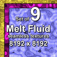 Melt Metal Fluid 9x Seamless Textures
