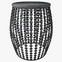 aspire kisha beaded stool 3d max