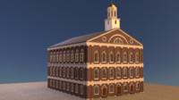 historic faneuil hall 3d model