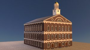 historic faneuil hall 3d model