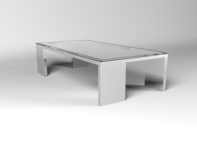 glass coffee table 3d max