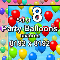 Party Balloons 8x Seamless Textures