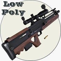 Walther WA2000 Low Poly