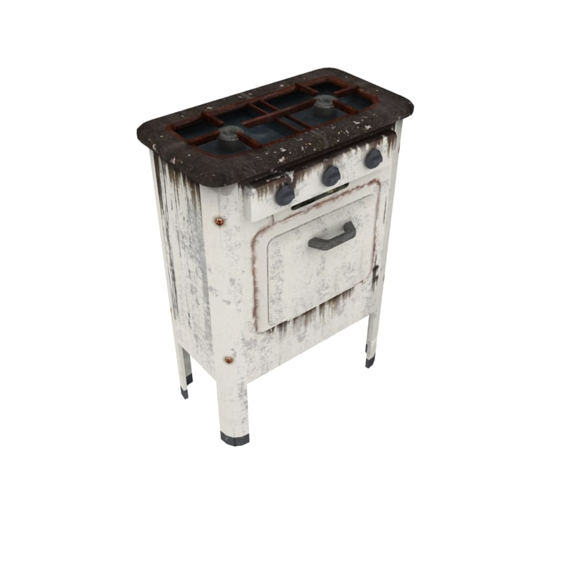 3d model of stove