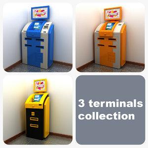 max 3 terminals