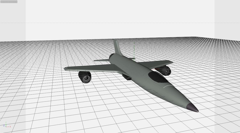 3d fighter aircraft model