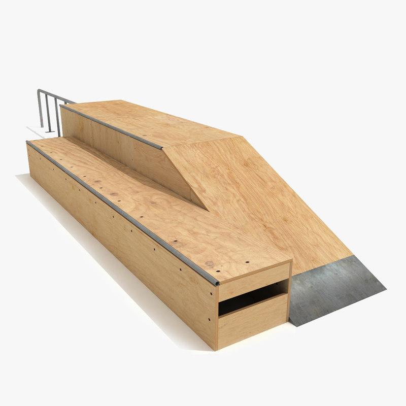 skate ramp fun box 3d model