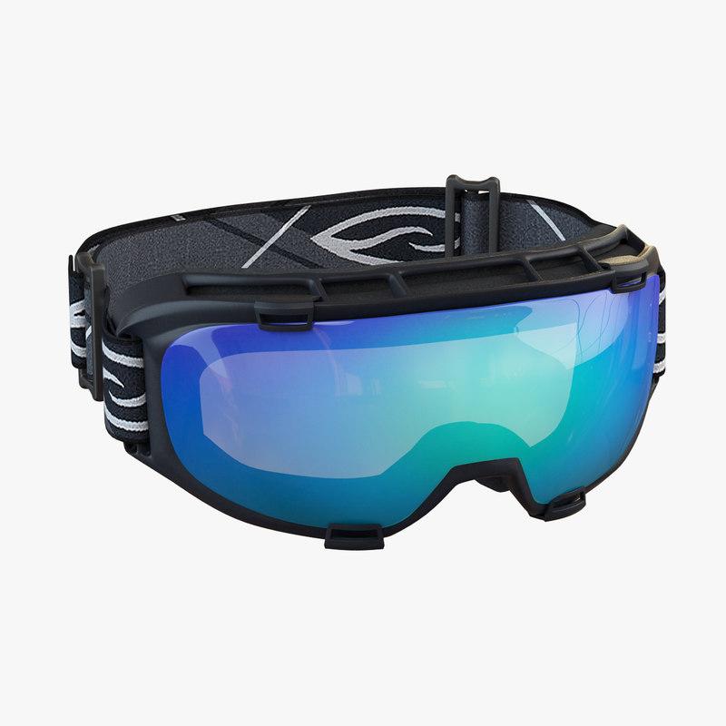 realistic ski goggles 3d model