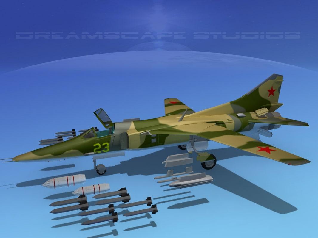 mig-27 flogger 3d model