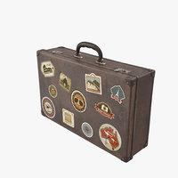 3d vintage suitcase