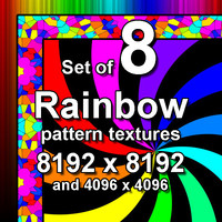 Rainbow Pattern 8x Textures
