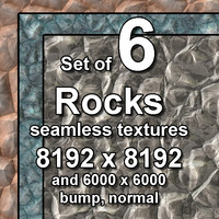 Rocks 6x Seamless Textures