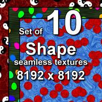 Shape 10x Seamless Textures, set #3