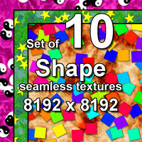 Shape 10x Seamless Textures, set #2