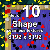 Shape 10x Seamless Textures, set #1
