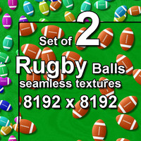 Rugby Balls 2x Seamless Textures