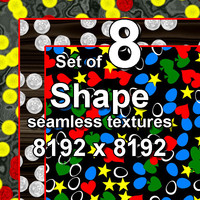 Shape 8x Seamless Textures, set #4