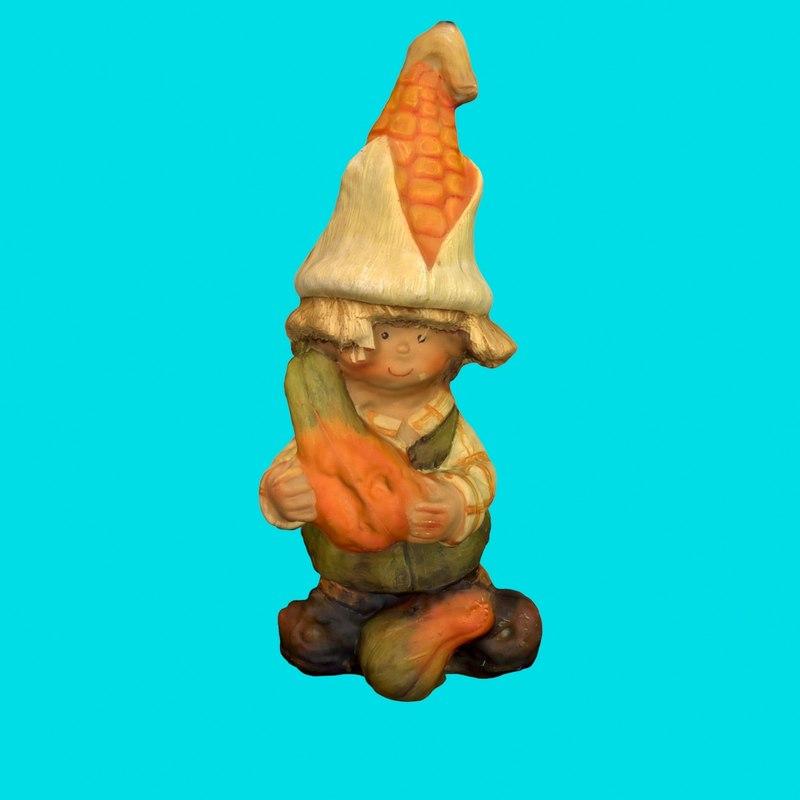 gnome - corn boy 3d model