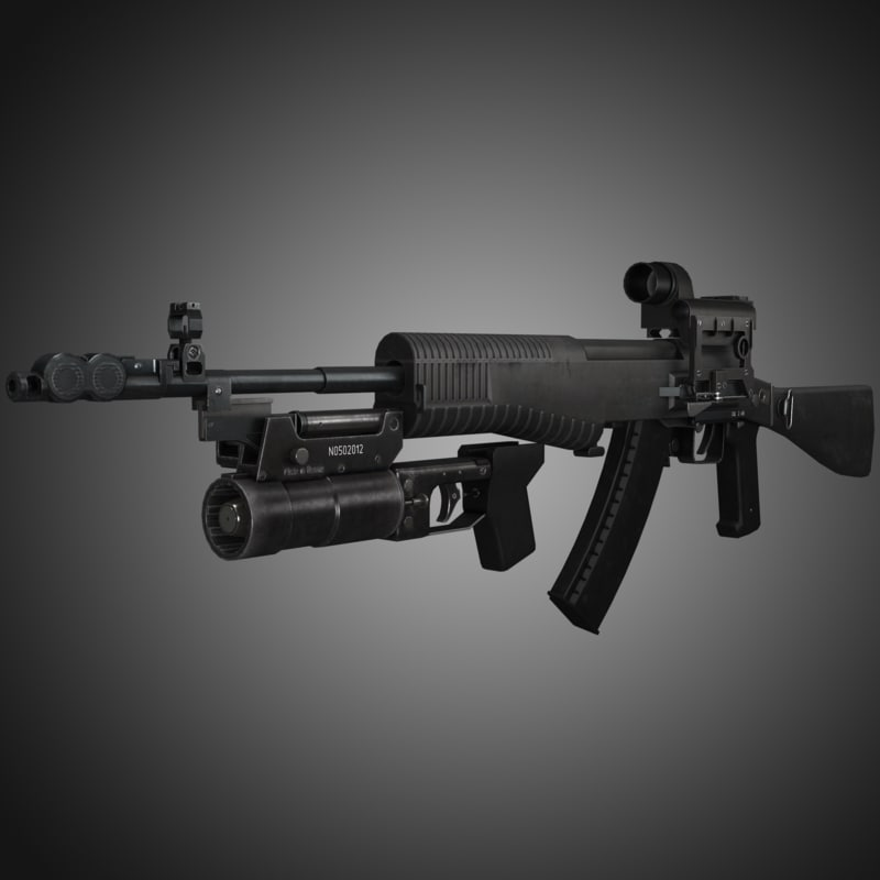 3ds max an-94 abakan assault rifle