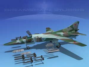 3d mig-27 weapons aircraft model