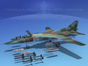 3d model mig-27 flogger russia