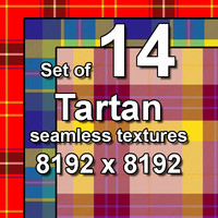 Tartan 14x Seamless Textures, set #1