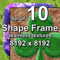 Shape Frame 10x Seamless Textures, set #3