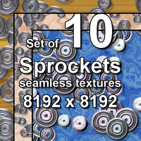 Sprockets 10x Seamless Textures