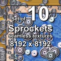 Sprockets 10x Seamless Textures