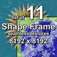Shape Frame 11x Seamless Textures, set #2